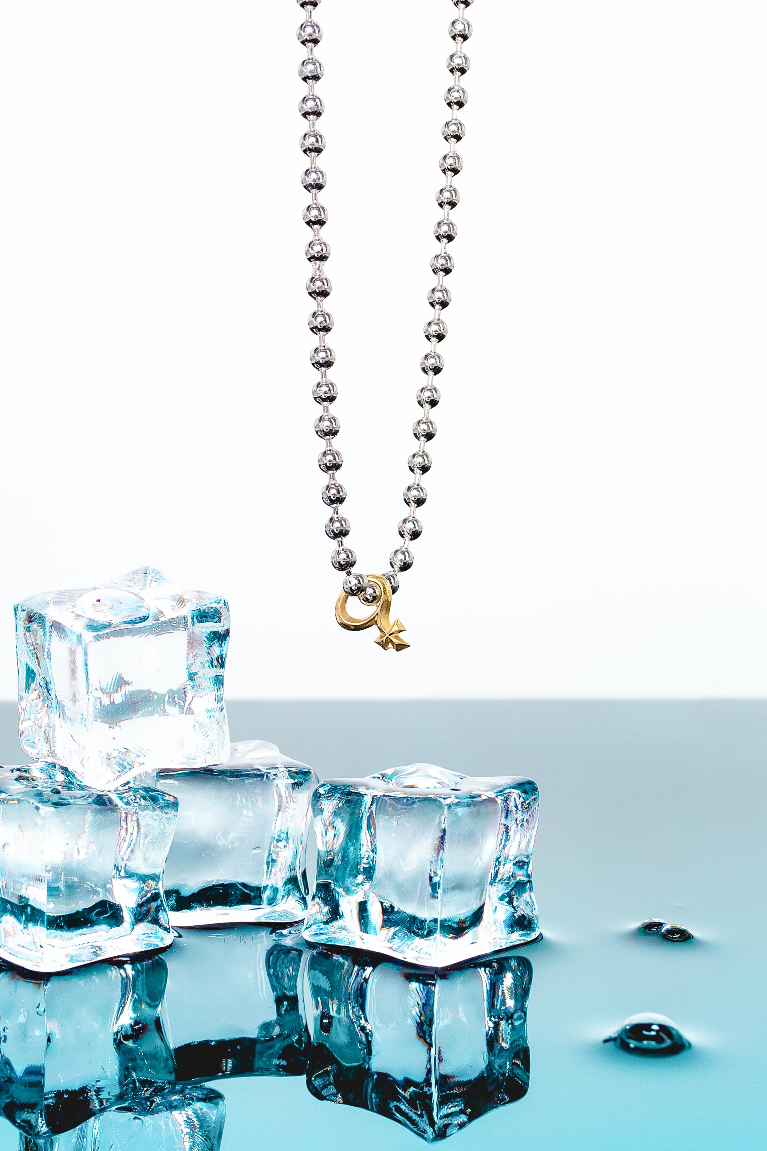 Halskette silver/ VENUS KOLLEKTION  9kt Gold